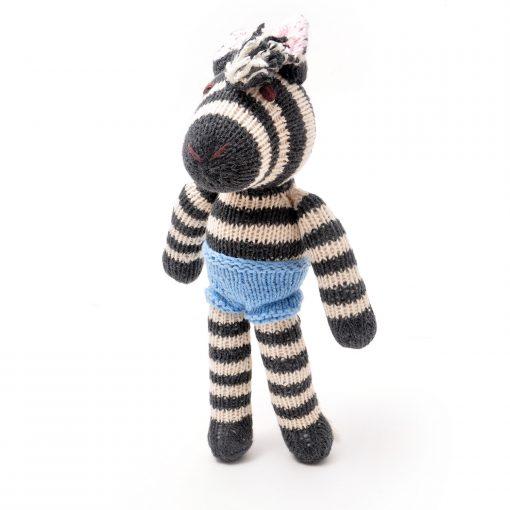 ChunkiChilli Hand Knitted Zebra Soft Toy