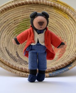 ChunkiChilli Knitted Bear in Red Morning Coat