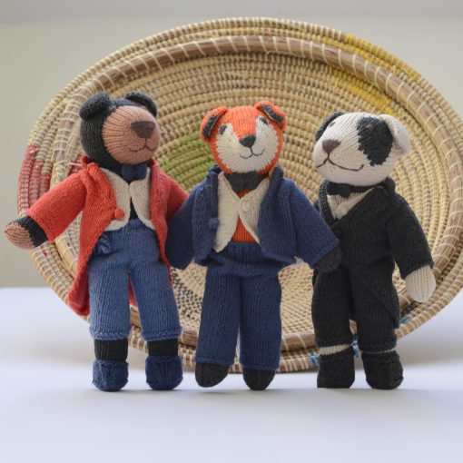 ChunkiChilli Knitted Soft Toys in Suits