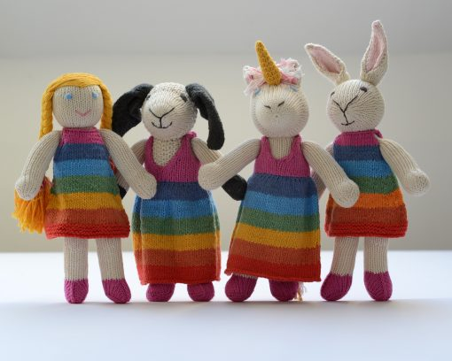 ChunkiChilli Toys in Rainbow Dresses