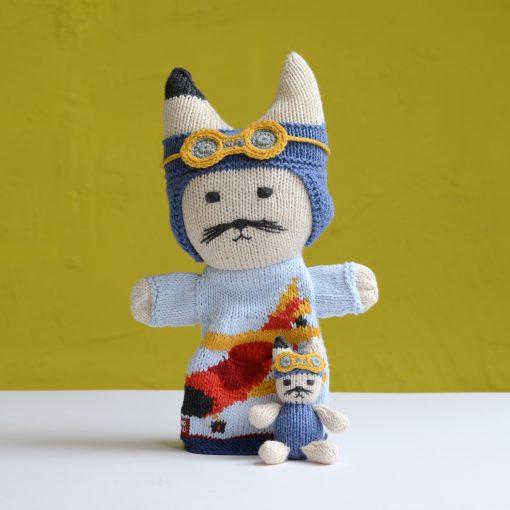 ChunkiChilli Cat Pilot Pocket Puppet