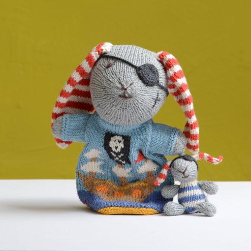 ChunkiChilli Pirate Rabbit Pocket Puppet