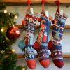 ChunkiChilli Personalised Organic Cotton Christmas Stockings