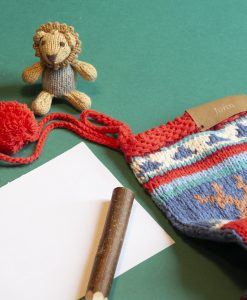 Personalised Hand Knitted Christmas Stockings in Organic Cotton