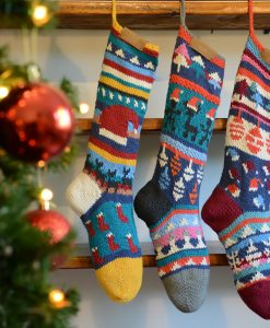 ChunkiChilli Personalised Hand Knitted Christmas Stockings
