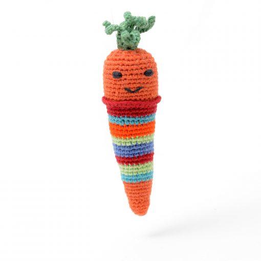 ChunkiChilli Organic Cotton Carrot Rattle