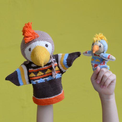 ChunkiChilli Eagle Puppets in Organic Cotton