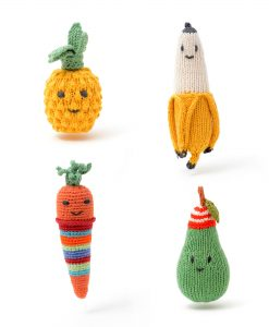Organic Cotton Fruit Rattles