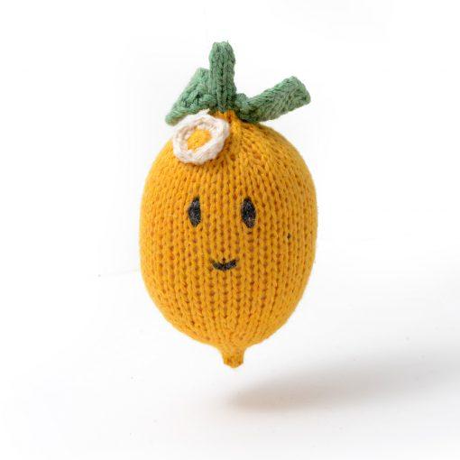 ChunkiChilli Organic Cotton Lemon Rattle