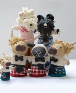ChunkiChilli Hand Knitted Scottish Puppets
