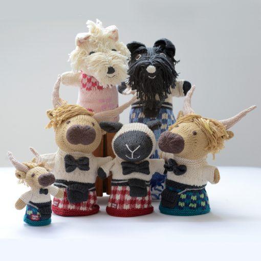 ChunkiChilli Hand Knitted Scottish Puppets