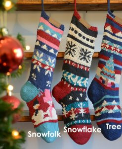 ChunkiChilli Personalised Hand Knitted Christmas Stockings